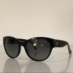 CHANEL 5273-Q Cat Eye Black Polarized Sunglasses